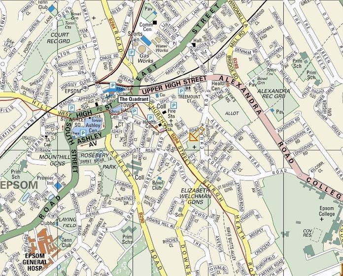 Map Of Epsom Epsom Map | Heaven Mountain Taijiquan College UK GrandMaster Dr  Map Of Epsom
